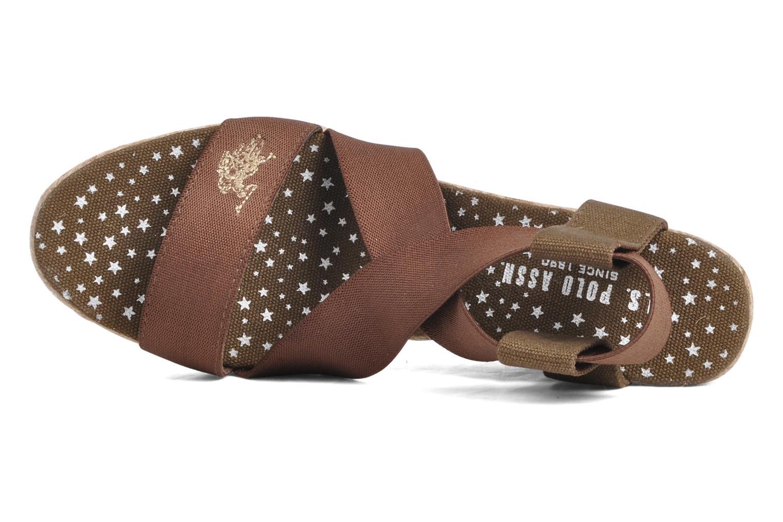 Sandali e scarpe aperte U.S Polo Assn. Naomi 4163s1 Marrone immagine sinistra