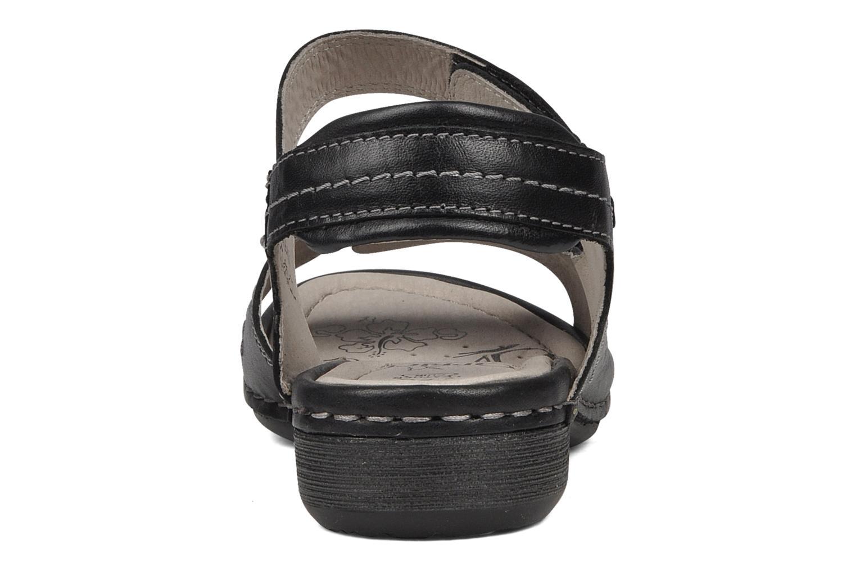 Sandales et nu-pieds Caprice Lysandra Noir vue droite