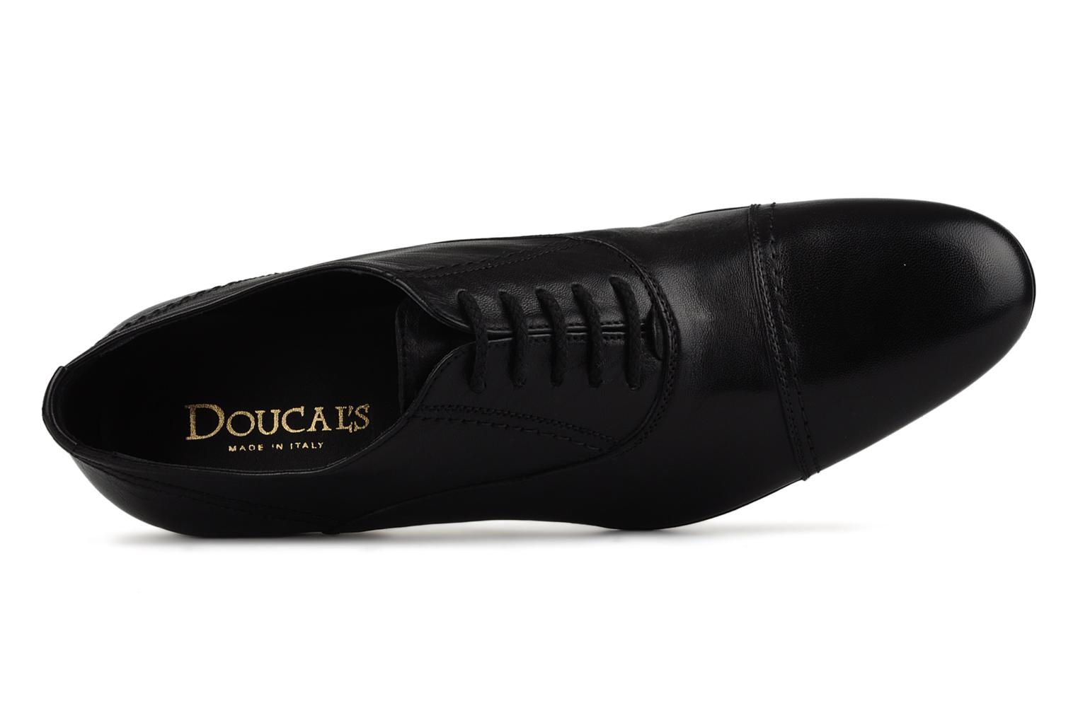 Lace-up shoes Doucal's Yann Black view from the left