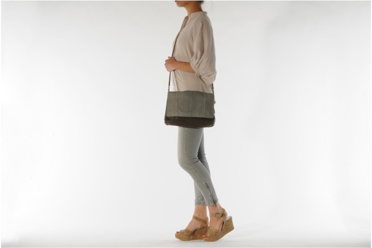 Clutch bags Abaco Charmy Grey view from above