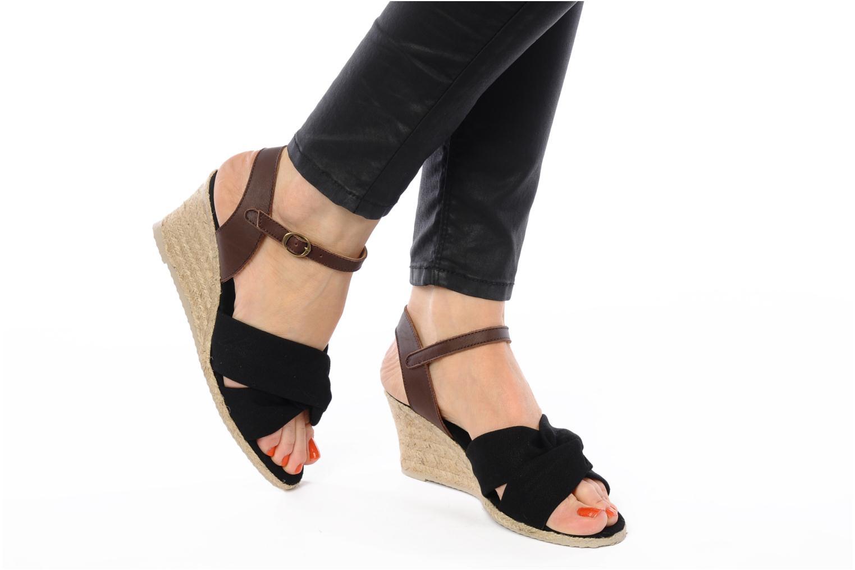 Sandalen Pare Gabia Sorela schwarz ansicht von unten / tasche getragen