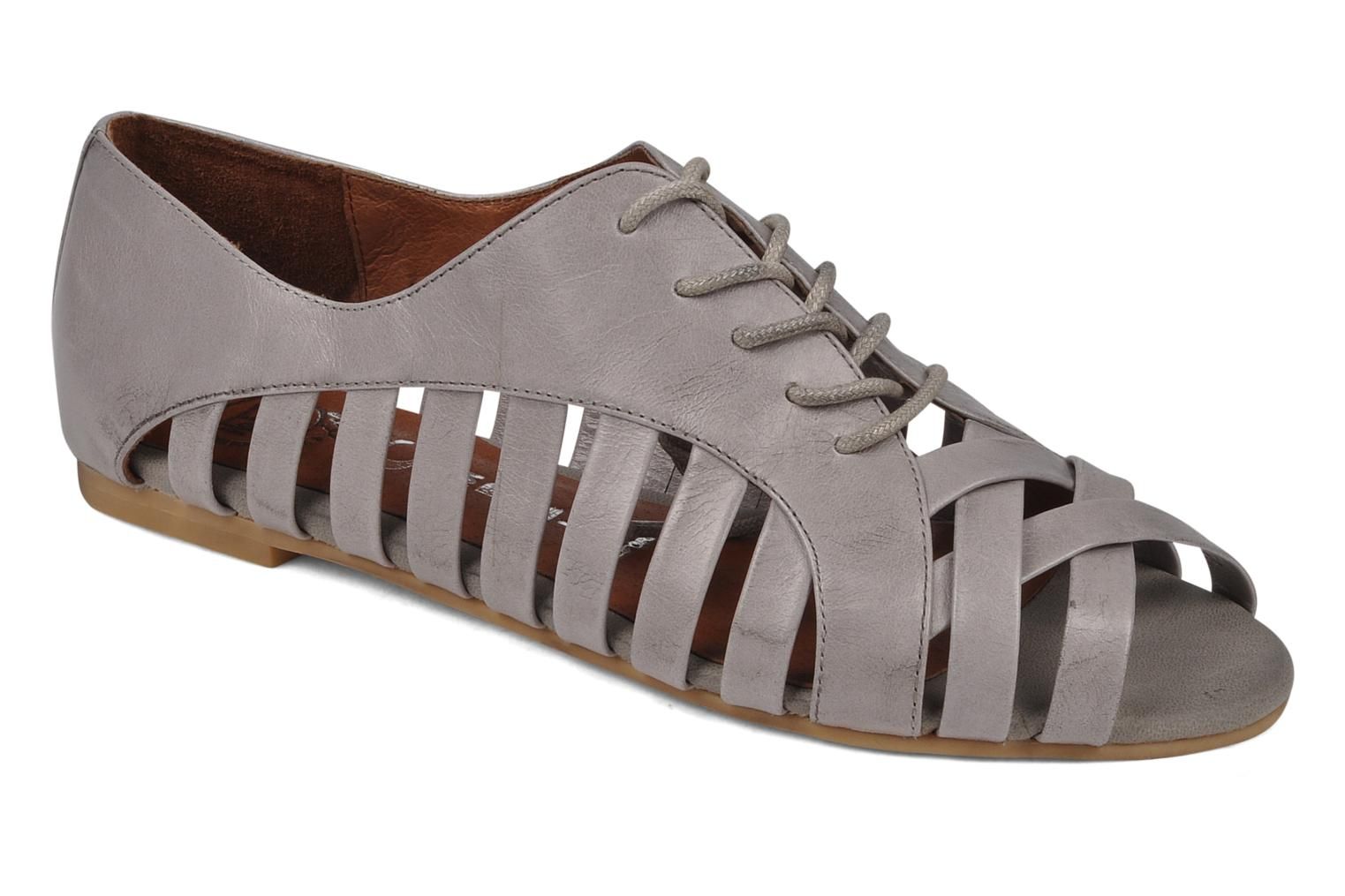 Lace-up shoes Jeffrey Campbell Hoyt Grey detailed view/ Pair view