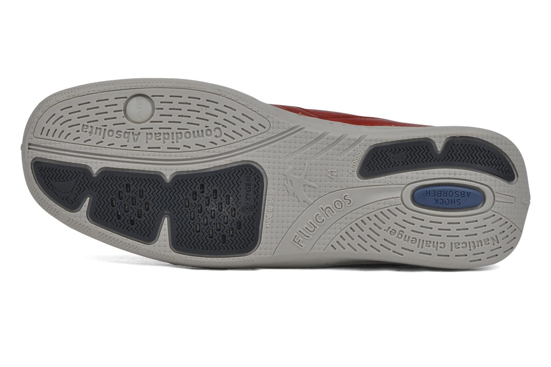 Zapatos con cordones Fluchos Desafio 7175 Rojo vista de arriba