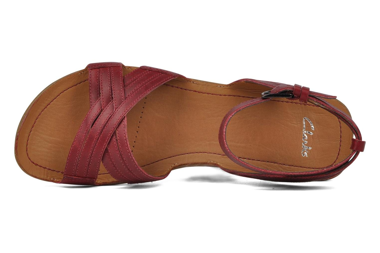 Sandals Clarks Powder mist Red view from the left