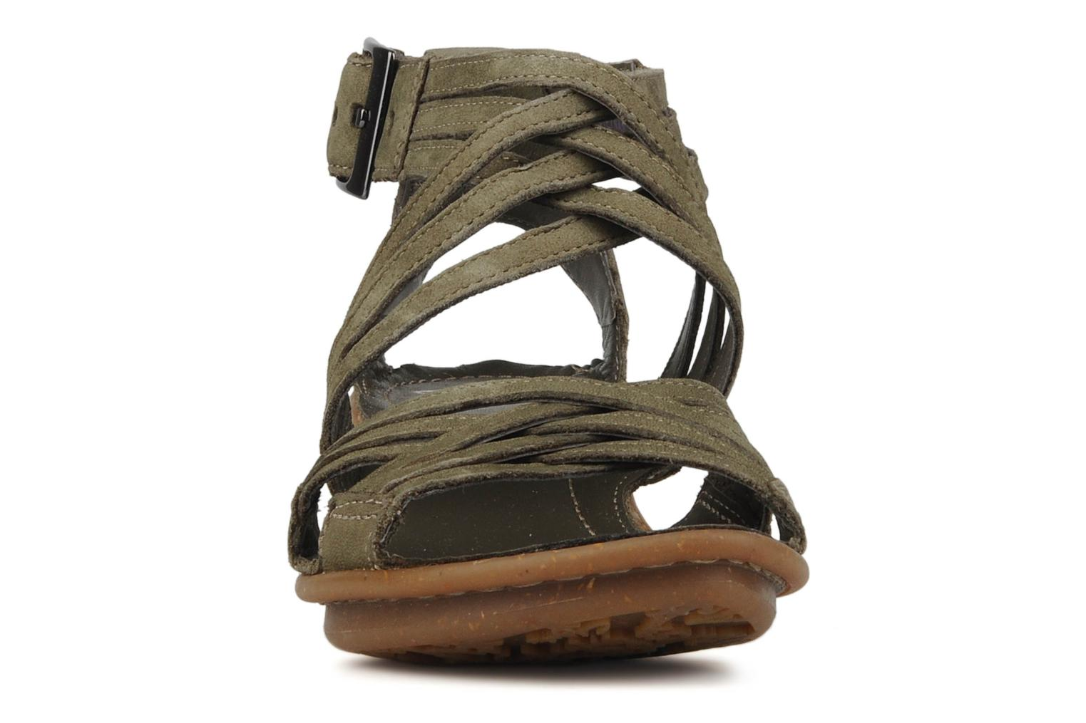 Sandals Clarks Reggae band Green model view