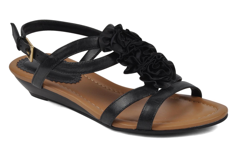 Sandales et nu-pieds Clarks Santa rock Noir vue détail/paire