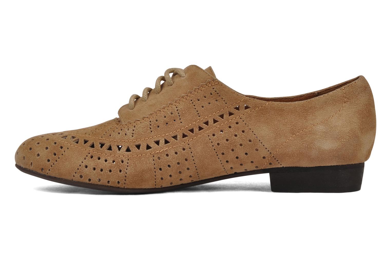 Chaussures à lacets Jeffrey Campbell Miller Beige vue face