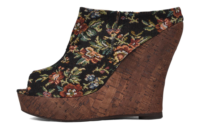 Leon Black flowers fabric