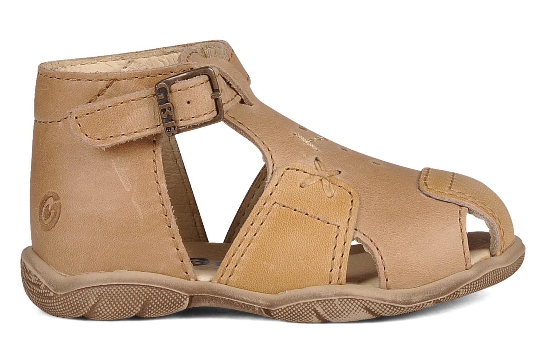 Sandales et nu-pieds GBB Lionel Beige vue derrière