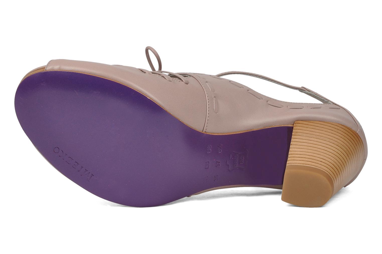 Sandales et nu-pieds Miezko Benka Rose vue haut