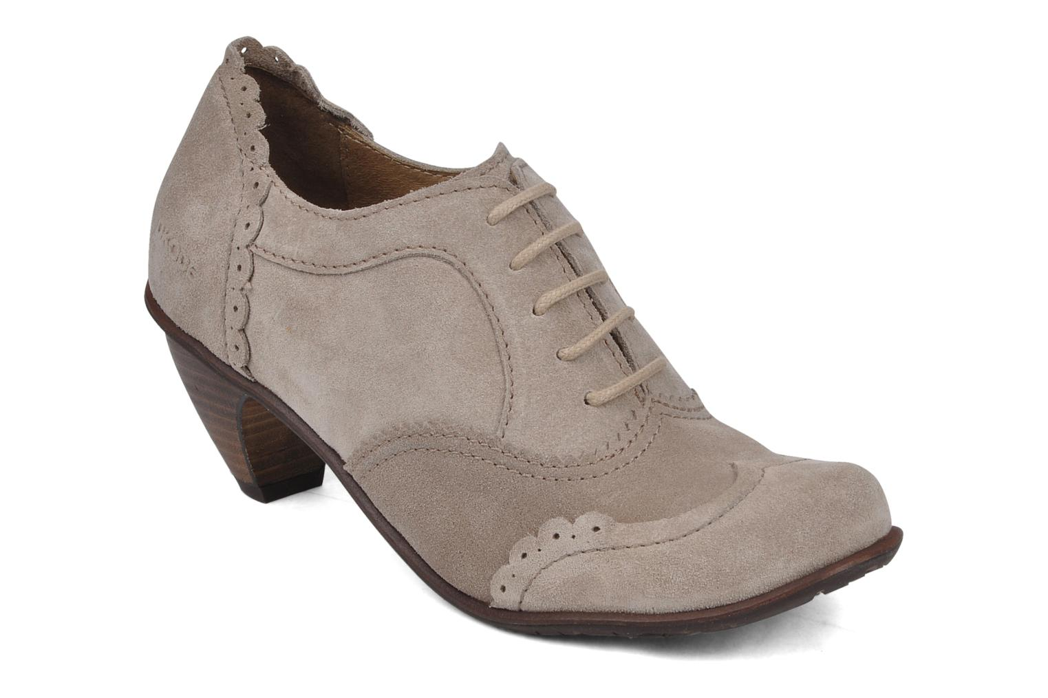 Lace-up shoes Dkode Victoria Grey detailed view/ Pair view