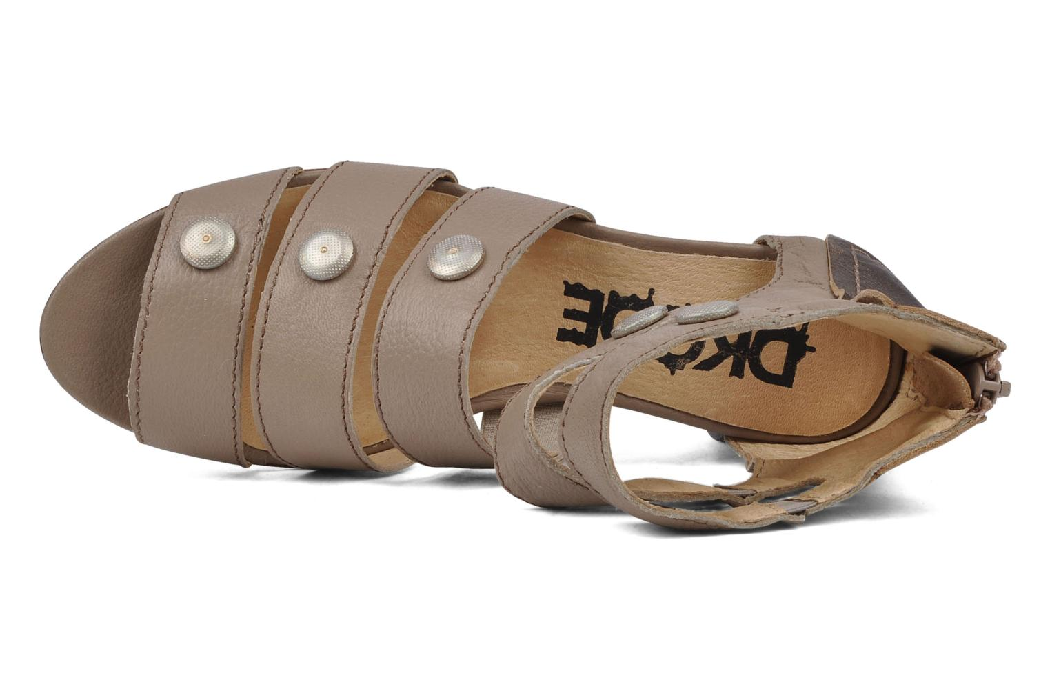 Sandals Dkode Flora Beige view from the left