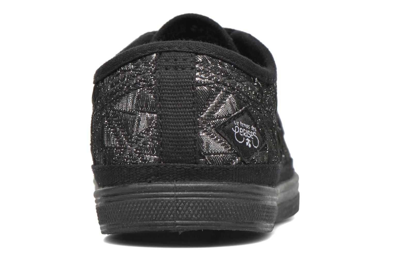 Sneaker Le temps des cerises Basic 02 silber ansicht von rechts