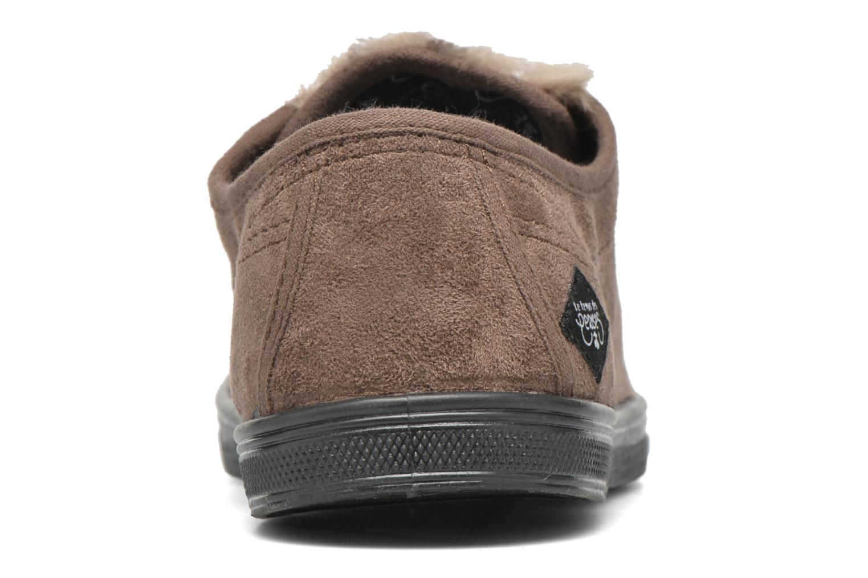 Sneakers Le temps des cerises Basic 02 Bruin rechts