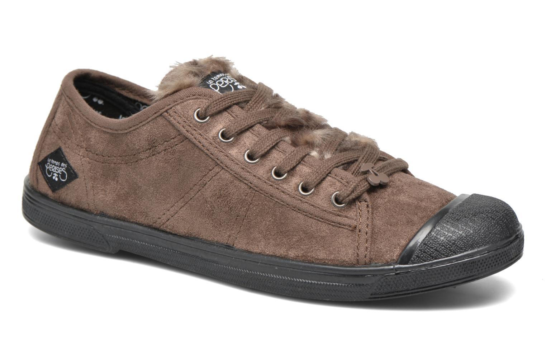 Sneakers Le temps des cerises Basic 02 Bruin detail