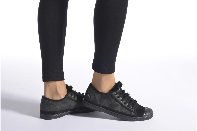 Sneaker Le temps des cerises Basic 02 braun ansicht von unten / tasche getragen