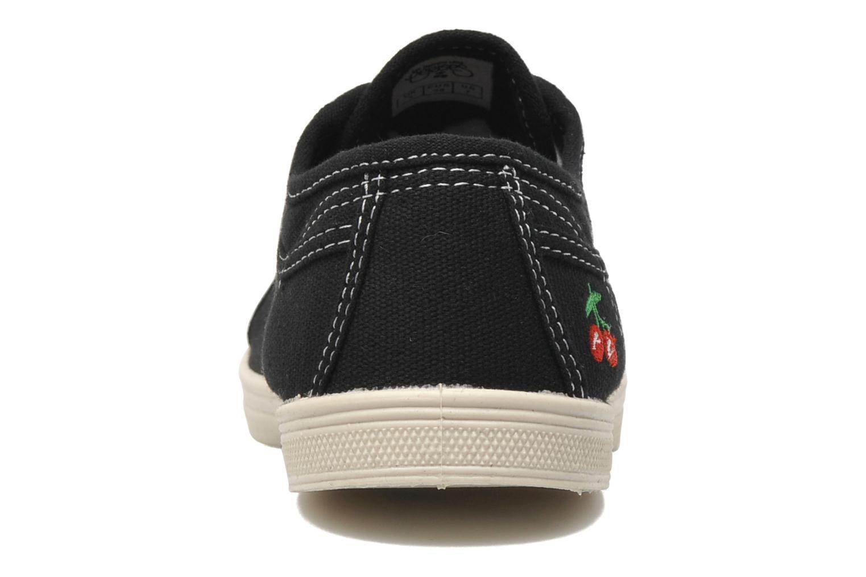 Sneakers Le temps des cerises Basic 02 Zwart rechts