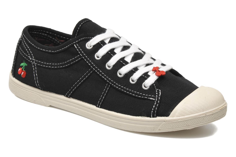Sneakers Le temps des cerises Basic 02 Zwart detail