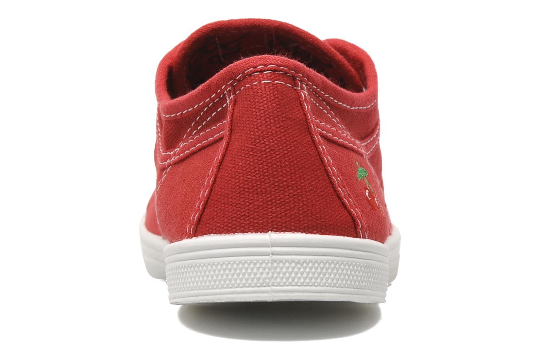 Baskets Le temps des cerises Basic 02 Rouge vue droite