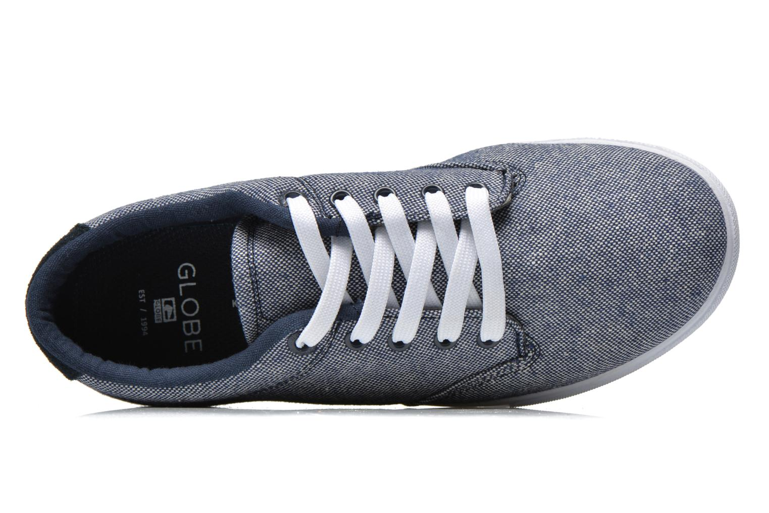 Sport shoes Globe Lighthouse slim Blue view from the left