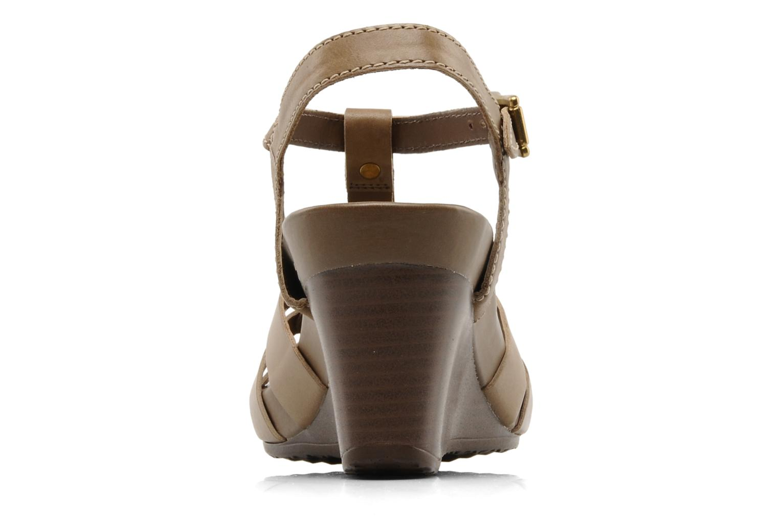 Sandals Geox D roxy z Brown view from the right