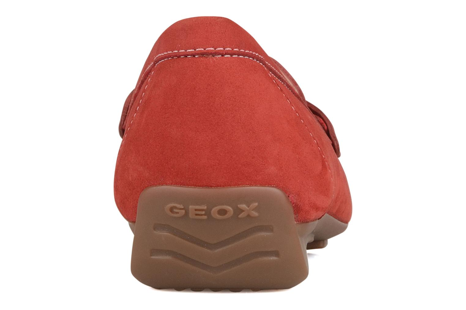 Loafers Geox D grin a Red view from the right