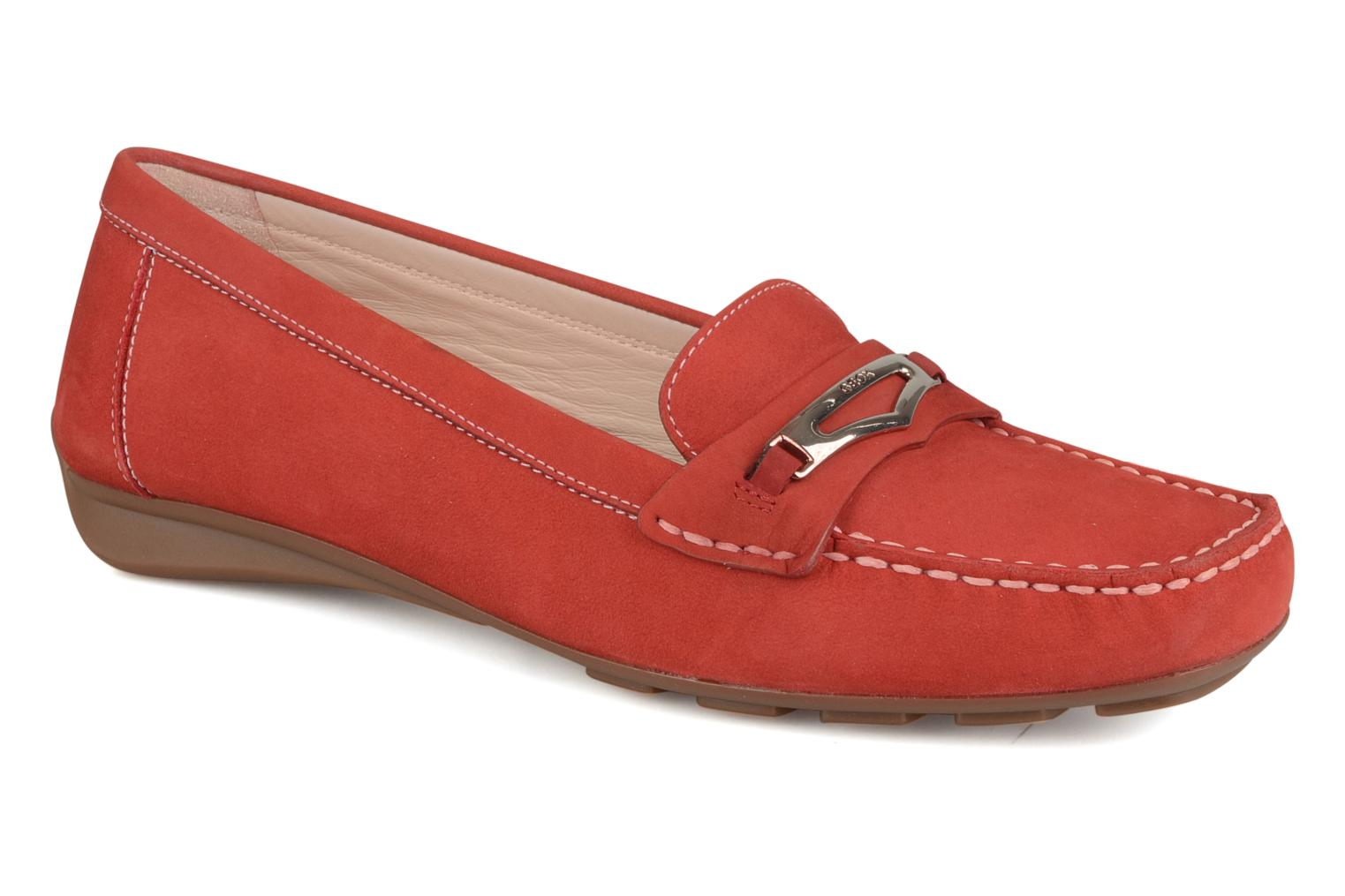 Loafers Geox D grin a Red detailed view/ Pair view
