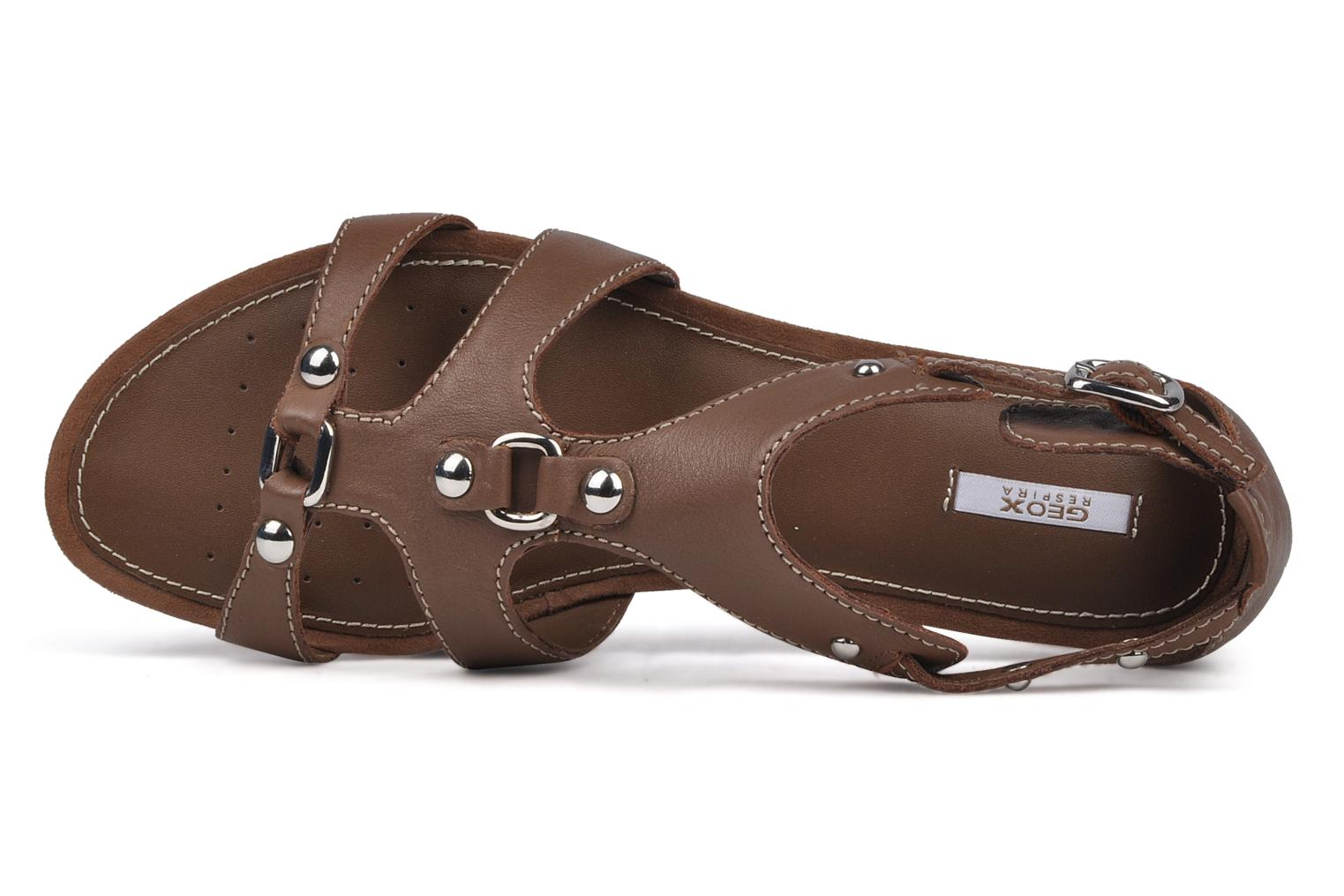 Sandals Geox D felisa b Brown view from the left