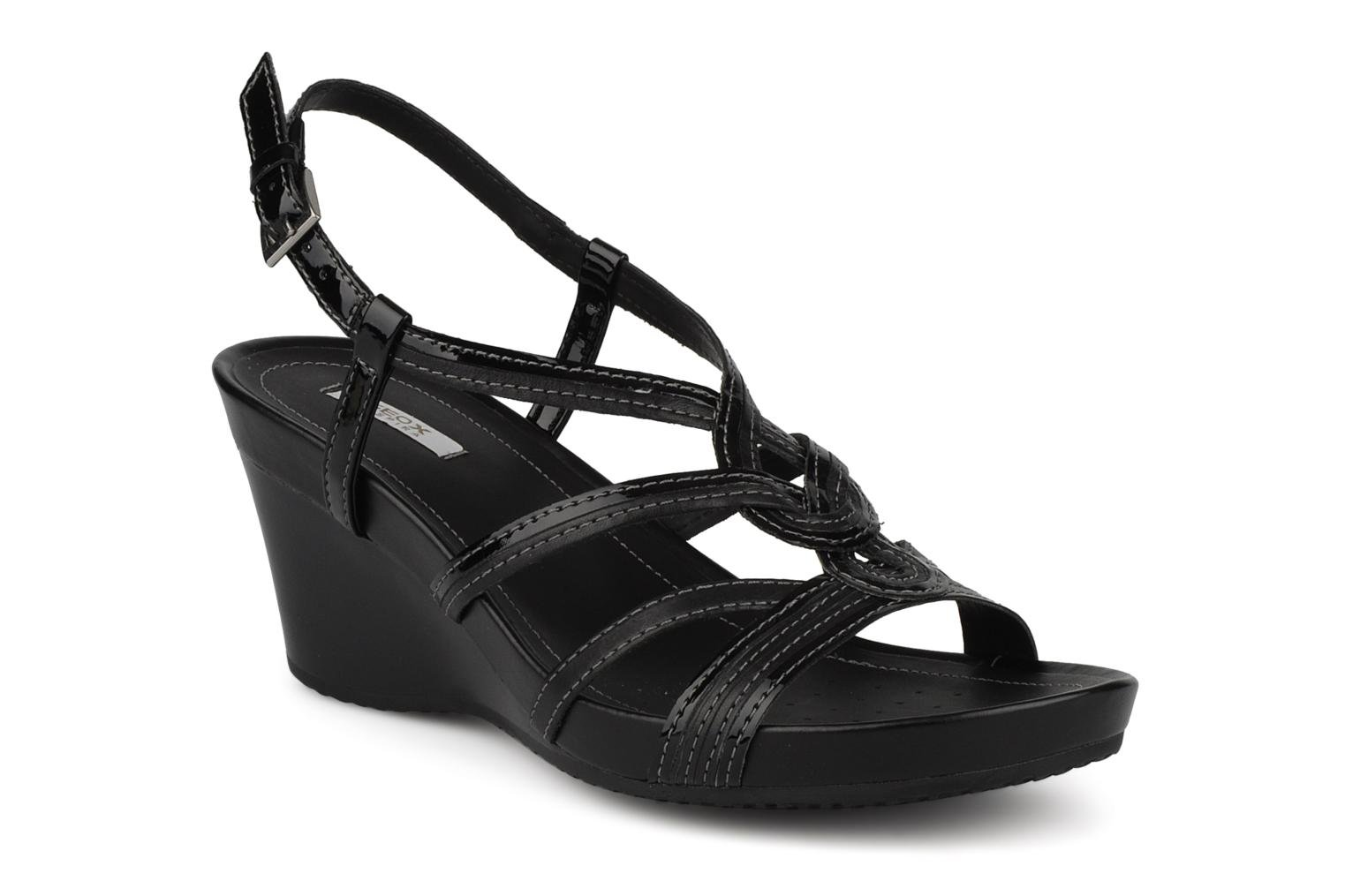 Sandals Geox D roxy s f Black detailed view/ Pair view