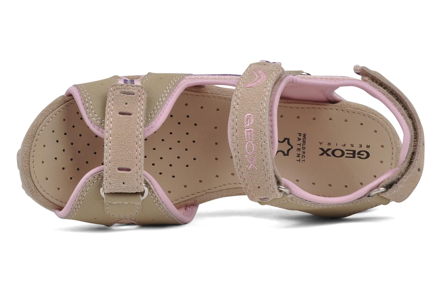 Sport shoes Geox J s.roxanne r Beige view from the left
