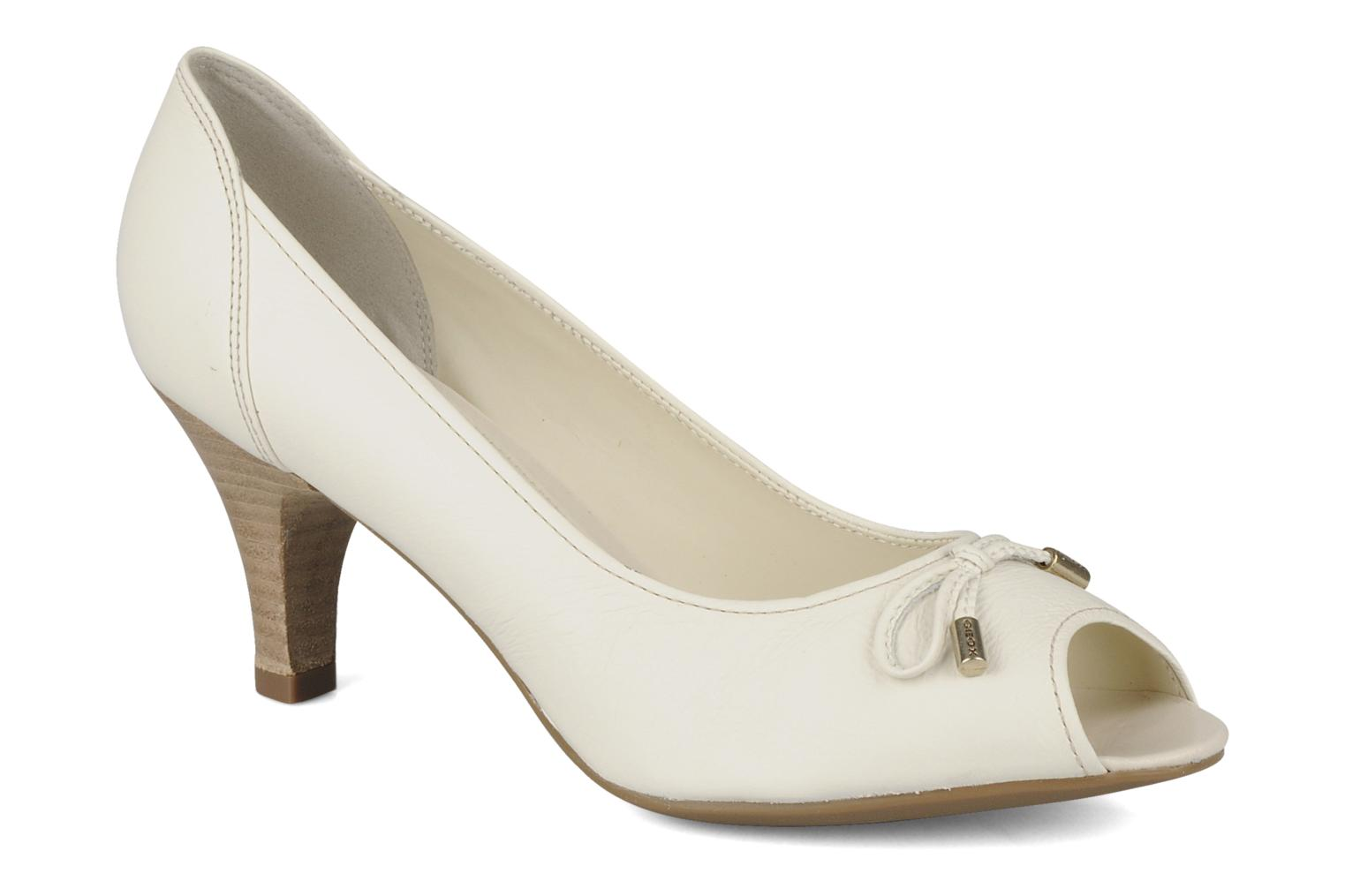 High heels Geox D cherie a White detailed view/ Pair view