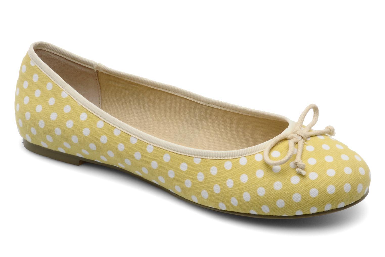 Pakita Yellow white dots fabric