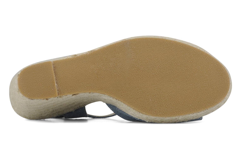 Sandales et nu-pieds Georgia Rose Uly Bleu vue haut