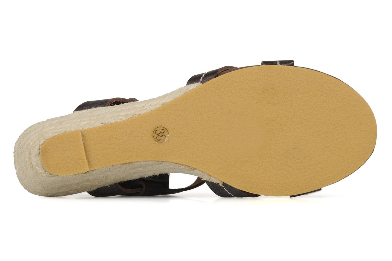 Sandales et nu-pieds Georgia Rose Mirna Marron vue haut