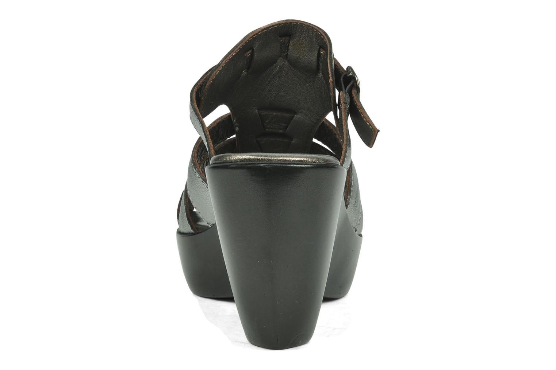 Sandales et nu-pieds Espace Angie Argent vue droite