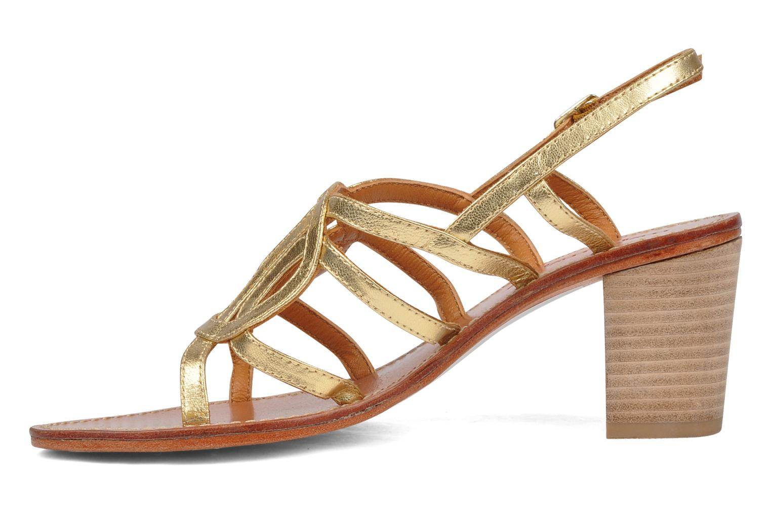 Sandals Mellow Yellow Jargon Bronze and Gold front view