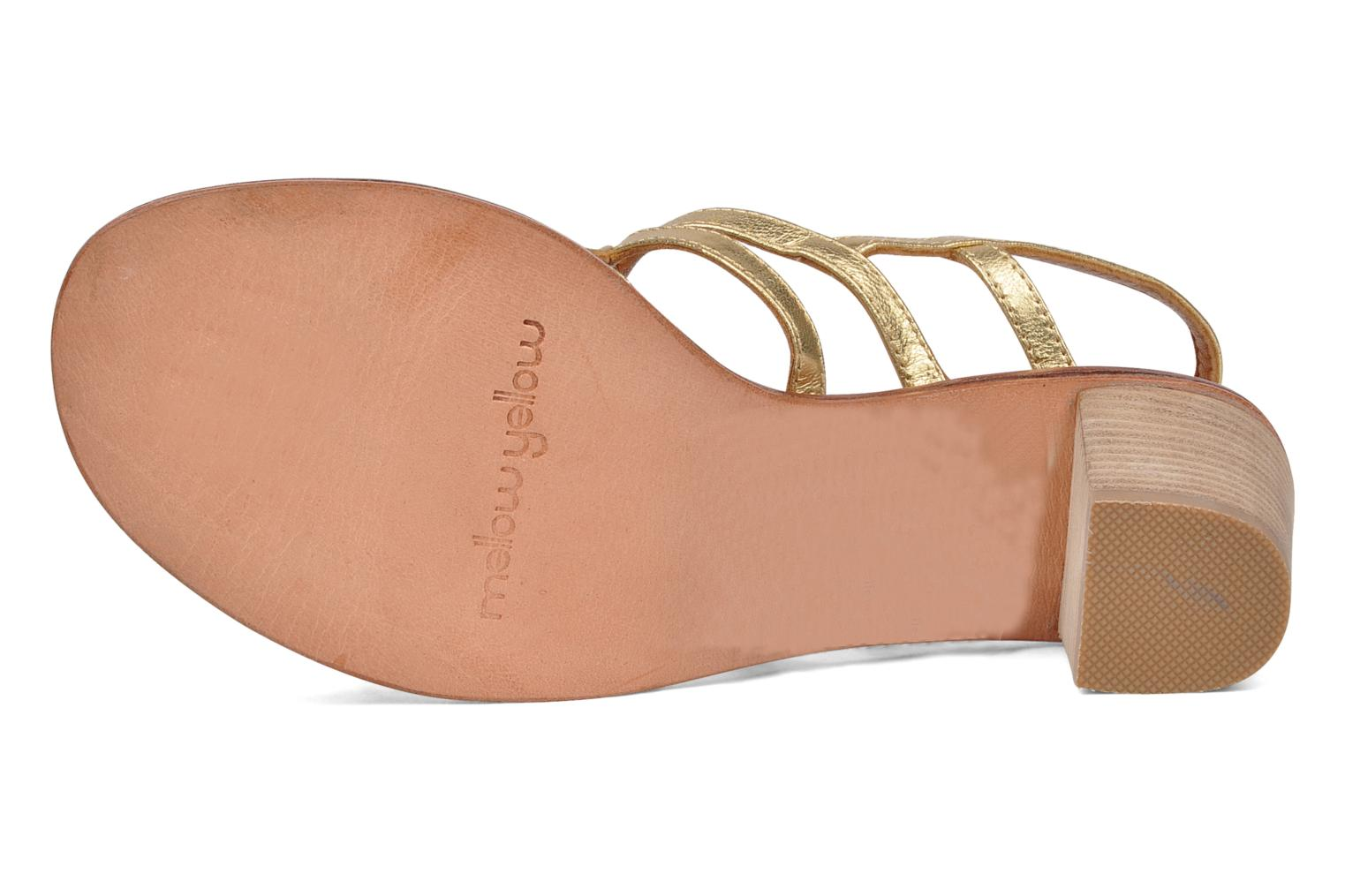 Sandals Mellow Yellow Jargon Bronze and Gold view from above