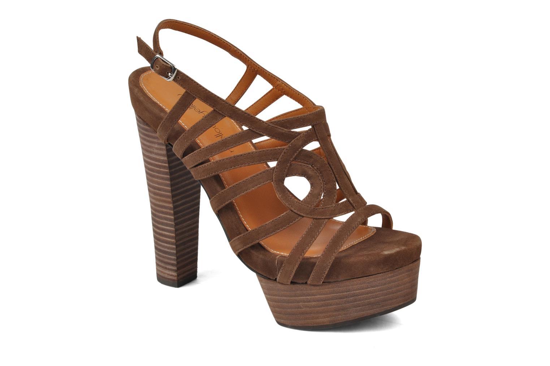 Sandales et nu-pieds Mellow Yellow Jenvy Marron vue détail/paire