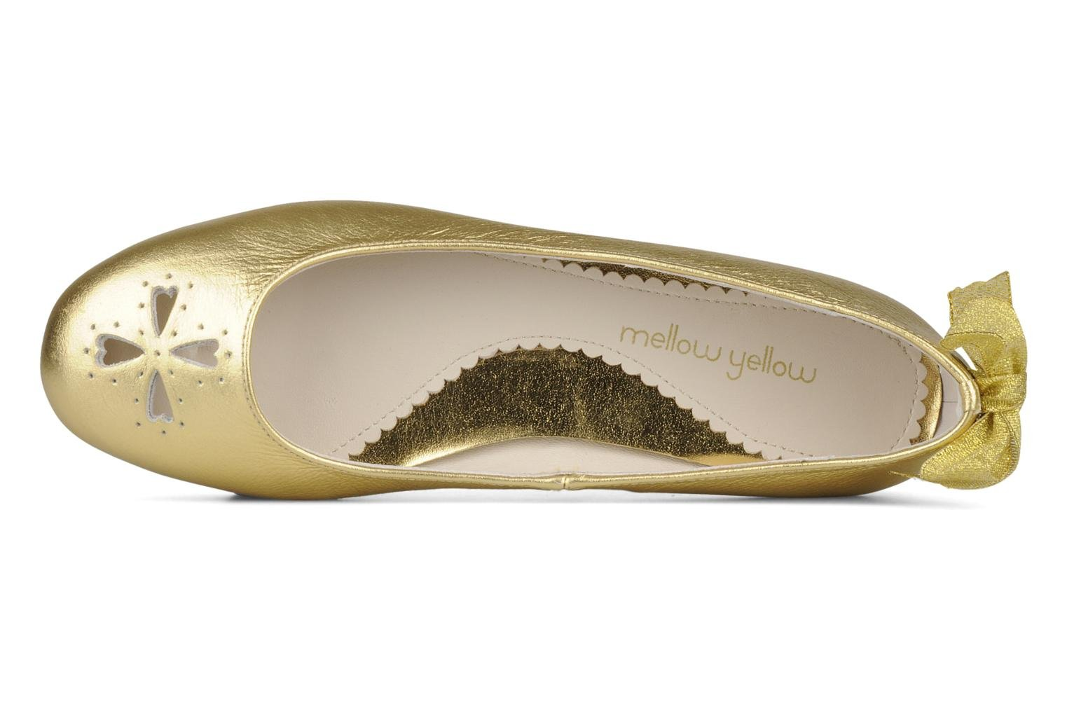 Ballet pumps Mellow Yellow Junior Bronze and Gold view from the left