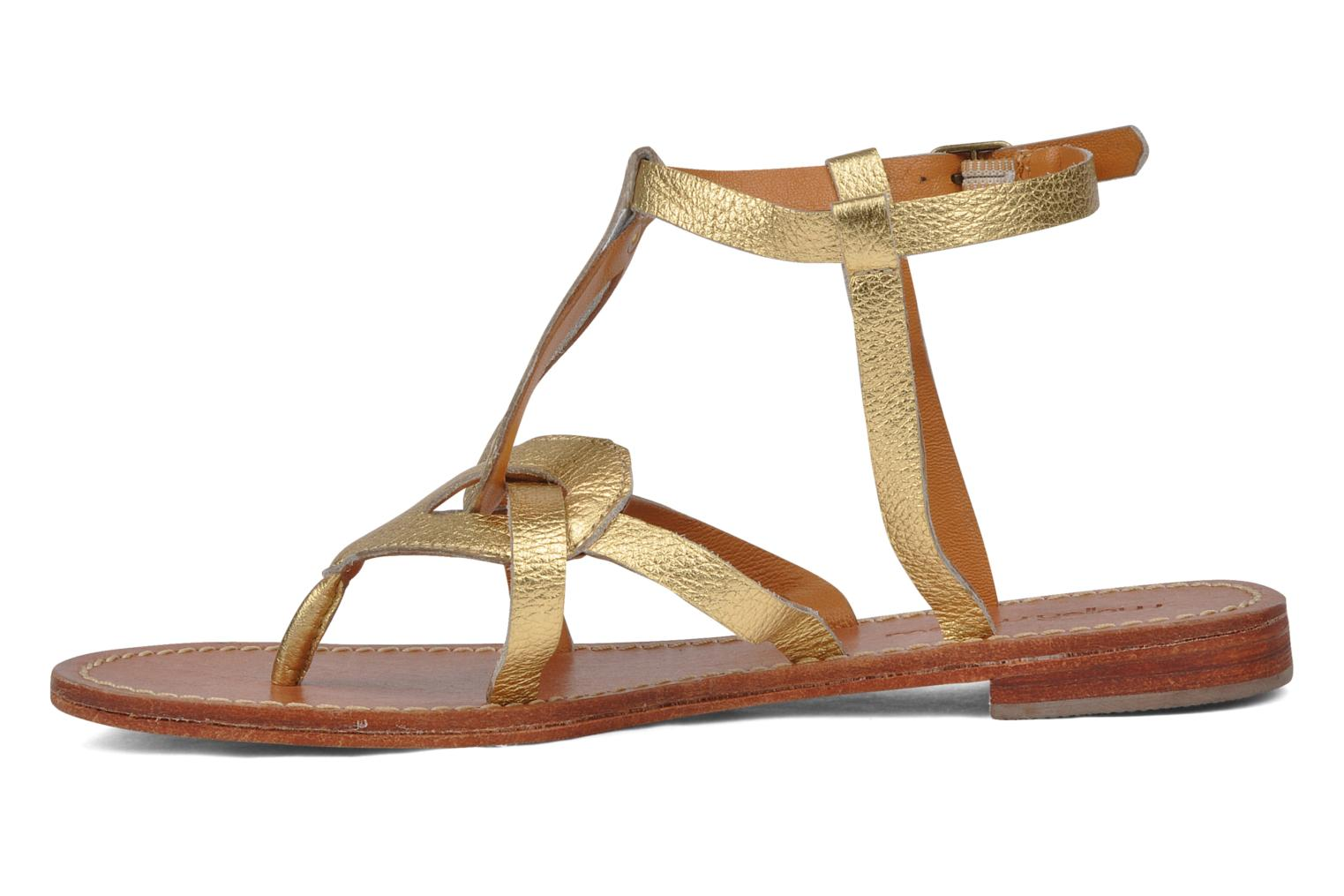 Sandals Mellow Yellow Joke Bronze and Gold front view
