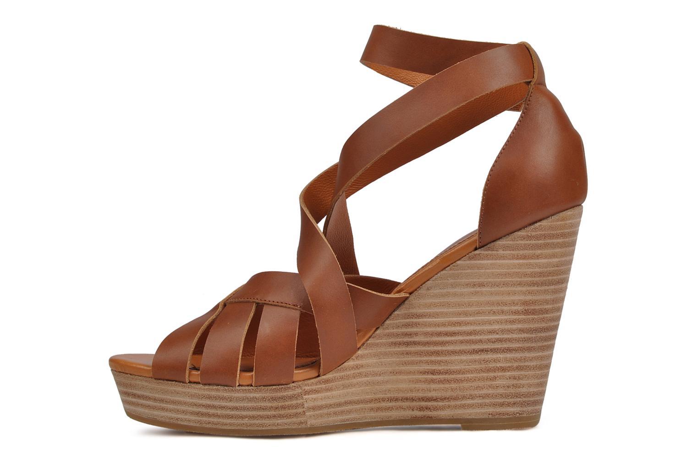 Sandals Mellow Yellow Jilson Brown front view
