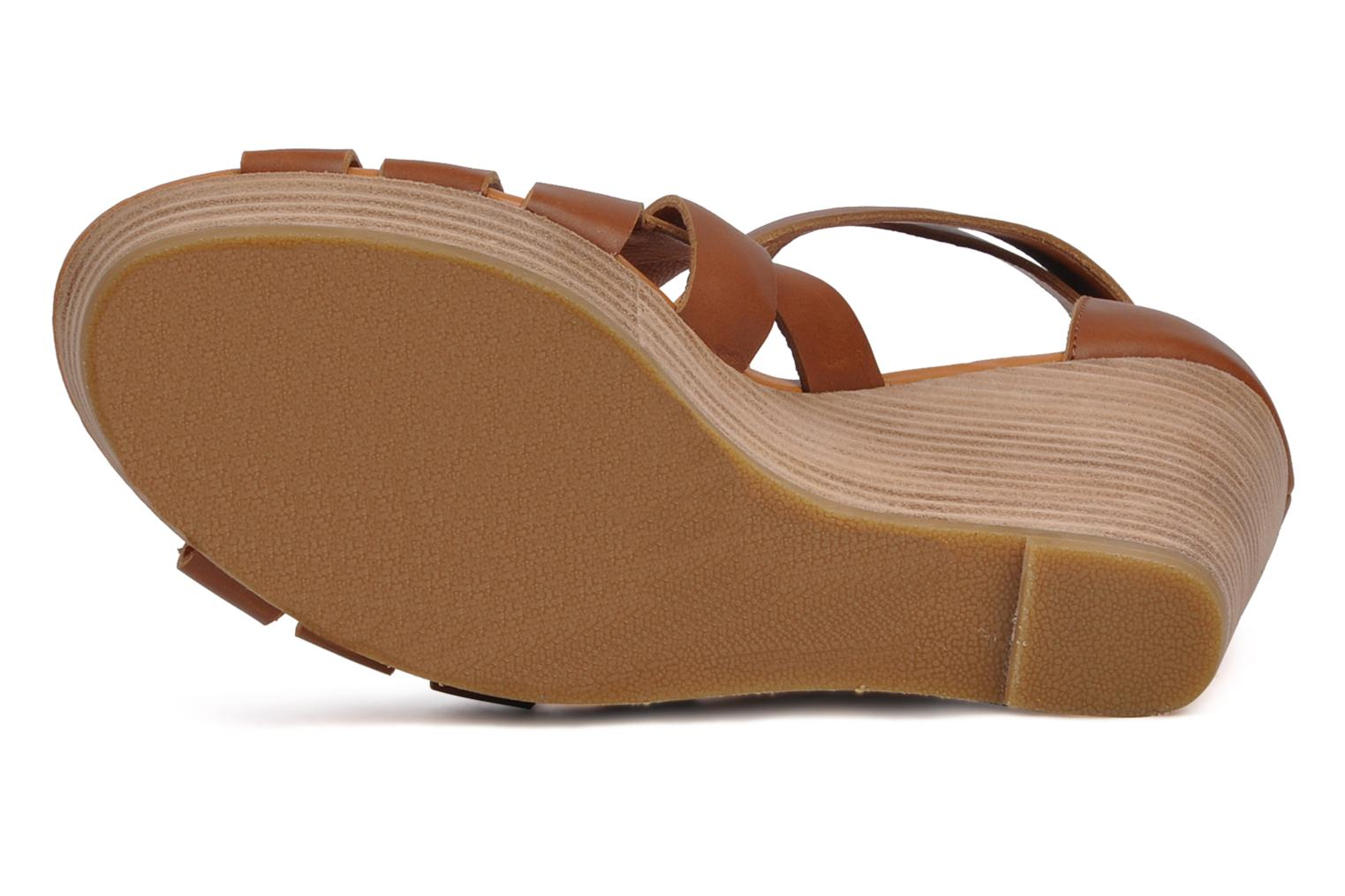 Sandals Mellow Yellow Jilson Brown view from above