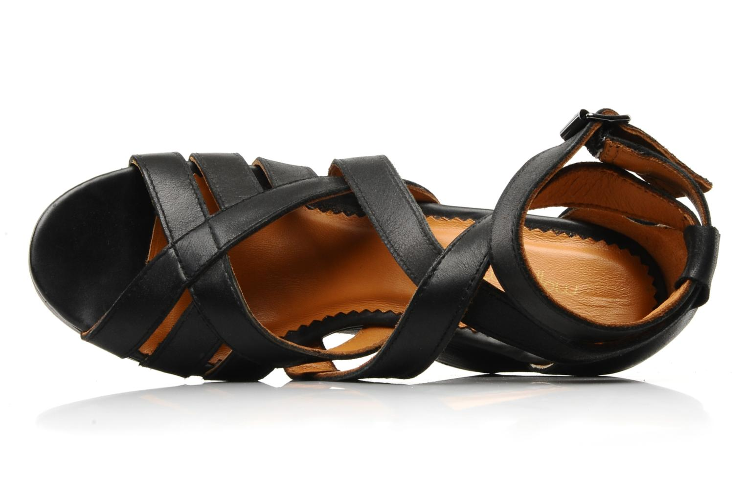 Sandals Mellow Yellow Jilson Black view from the left