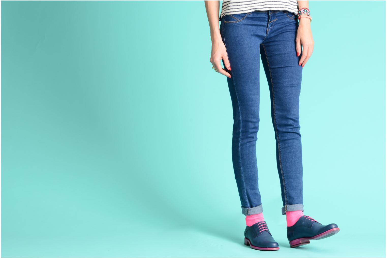 Chaussures à lacets Free Lance Arely derby Vert vue bas / vue portée sac