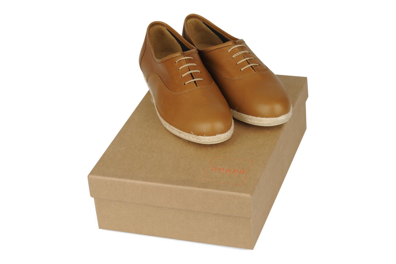 Zapatos con cordones Zespà Salhia Marrón vista 3/4