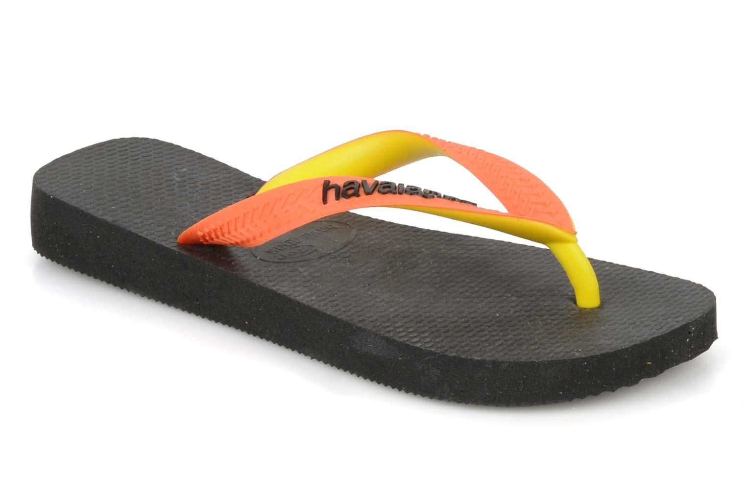 Tongs Havaianas Top Mix F Noir vue détail/paire