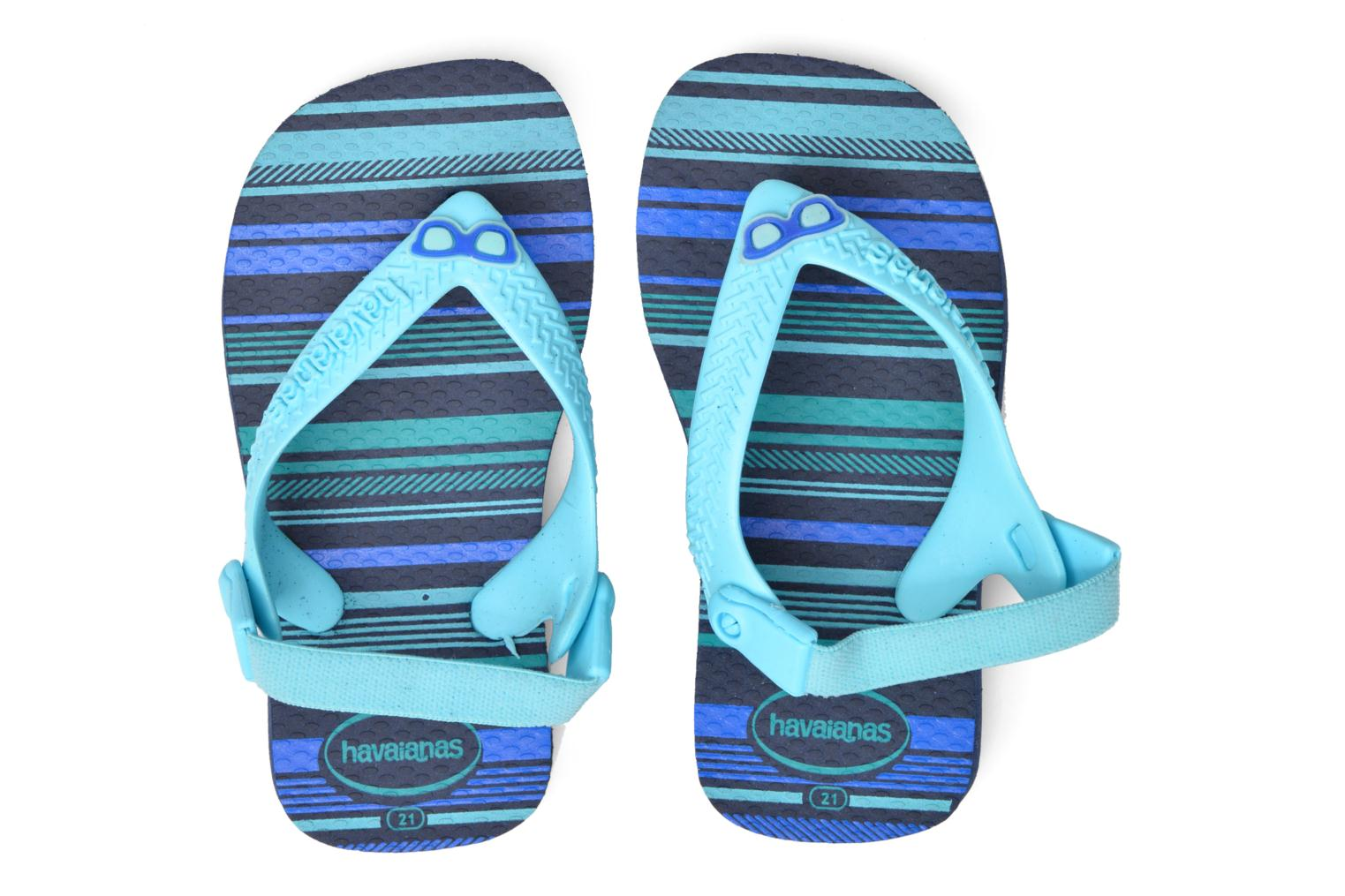 Flip flops Havaianas Baby chic Blue 3/4 view