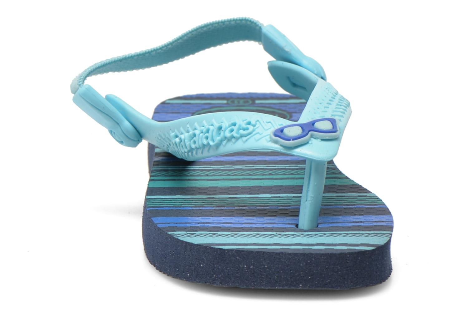 Tongs Havaianas Baby chic Bleu vue portées chaussures