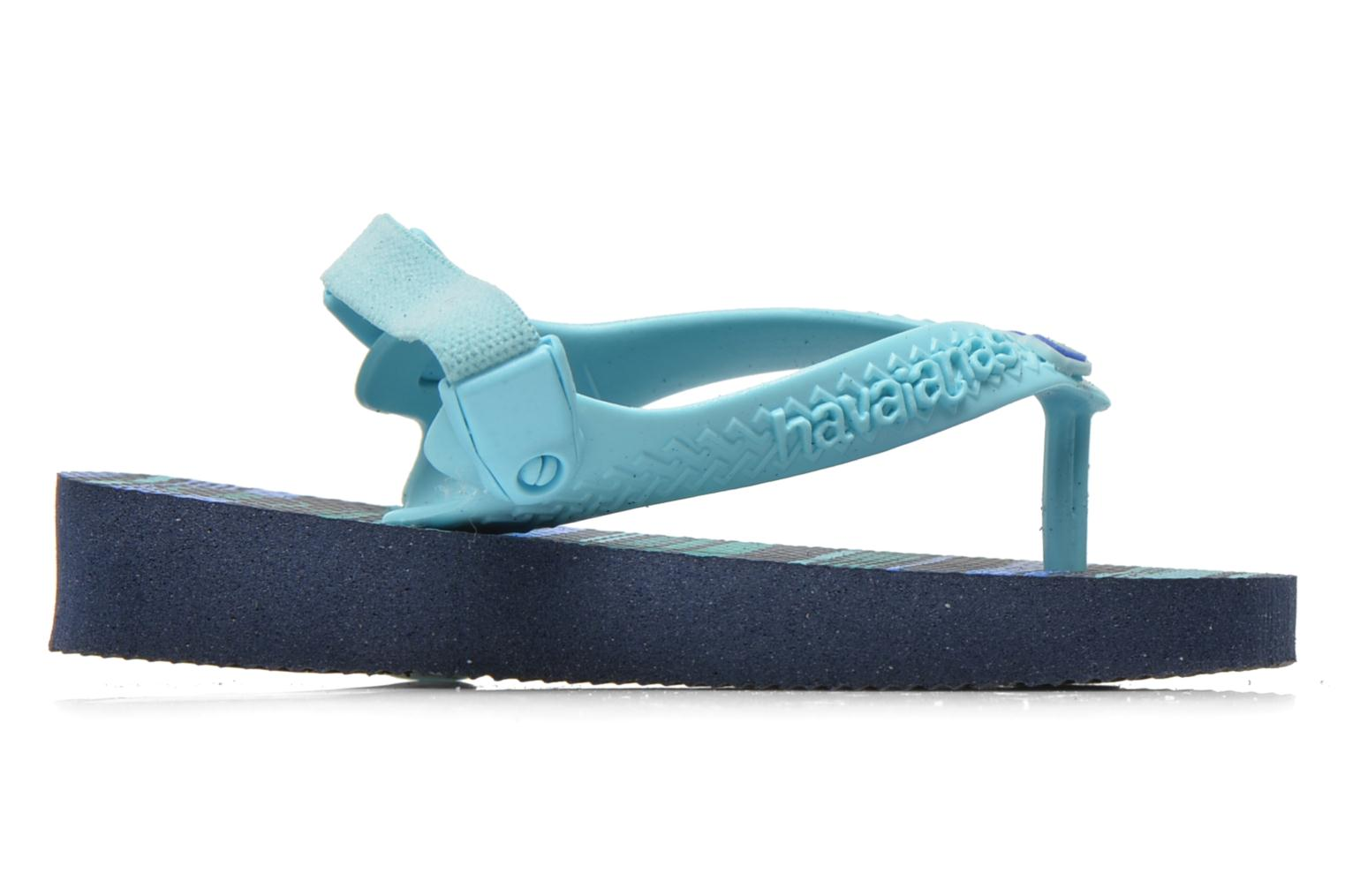 Flip flops Havaianas Baby chic Blue back view