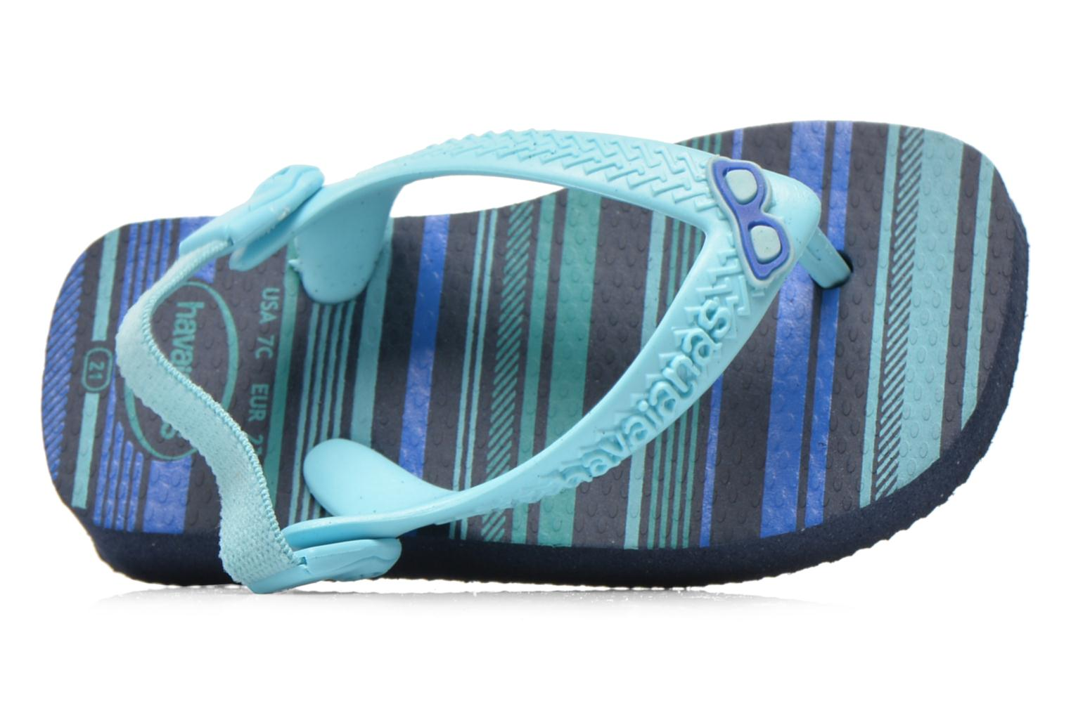 Flip flops Havaianas Baby chic Blue view from the left
